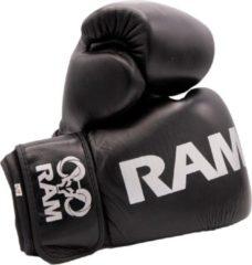 RAM Pro 1 - Leder - Kickbokshandschoenen - Zwart/zilver - 12oz