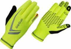 Gele GripGrab Running Expert reflecterende handschoenen - Handschoenen