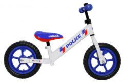 Amigo Police Loopfiets Met 2 Wielen 12 Inch Junior Wit