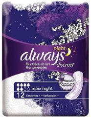 Always Discreet Maxi Night Verband+ Voor Urineverlies - 12 - Incontinentiepads