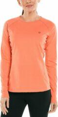 Koraalrode Coolibar - UV Zwemshirt voor dames - Longsleeve - Hightide - Zacht Koraal - maat M