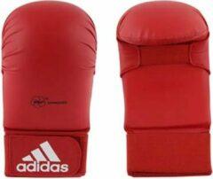 Adidas karatehandschoen zonder duim unisex rood maat M