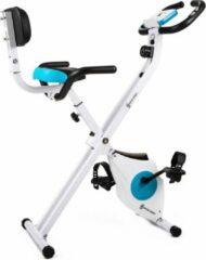 Witte Klarfit Azura M3 - Hometrainer , ergometer met trainingscomputer , geintegreerde hartslagmeter
