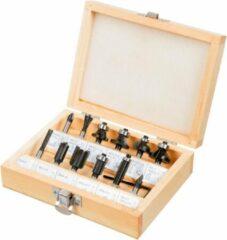 Verto Freesset 8mm 13 Delig TCT In Houten Koffer
