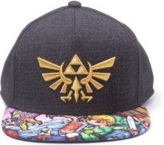 Zwarte Difuzed Zelda - Black Woods Boys Snapback Cap