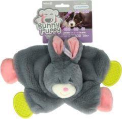 Bunny Puppy Crunchy Chew - Hondenspeelgoed - 33x23x5 cm Grijs Roze