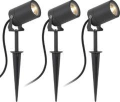 Antraciet-grijze KS Verlichting Stark Tuinspot Spieslamp