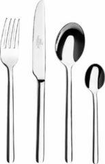 Zilveren Sabatier Moderna - Tafelbestek (mes, vork, lepel, koffielepel) - 4 stuks