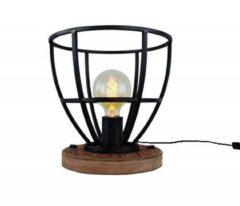 Bruine Lt-Luce Tafellamp Vintage Black Steel 25cm