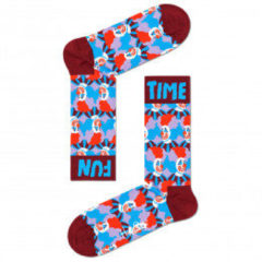 Happy Socks - Clown Sock - Multifunctionele sokken maat 41-46, rood/blauw/roze