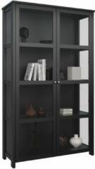 DS Style Vitrinekast Excellent 210 cm hoog in zwart