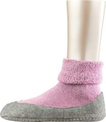 Falke - Cosyshoe Cocooning - Pantoffels maat 37-38, roze/grijs/beige