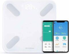 Witte Yunmai X - Slimme weegschaal met Bluetooth en 10 lichaamsmetingen - Werkt met Apple Health, Google Fit & Fitbit - Smart Fitness Scale
