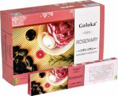 Goloka Wierook Aromatherapy Rosemary (12 pakjes)