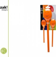 Oranje Zak designs Lepel Mini - Zak!Designs - Party - happy - set van 3 - 20 cm