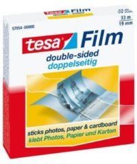 Witte Tesafilm dubbelzijdige tape, ft 33 m x 19 mm, wegwerpdispenser met 1 rol