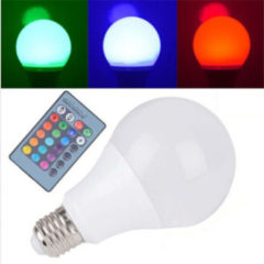 Meco E27 5W RGB 16 Color LED Globe Bulbs RGB LED Light With 24Key Rmote Control AC 85-265