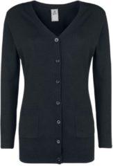 Brandit Knitted Button Cardigan Cardigan nero