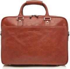 Castelijn & Beerens Castelijn en Beerens Verona Laptop Bag 15.6 Inch Crossbodytassen Bruin
