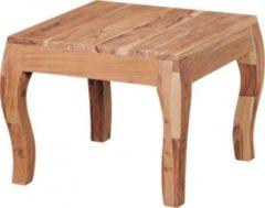 Wohnling WOHNLING Beistelltisch KILA Massivholz Akazie Wohnzimmertisch 50 cm Holztisch Landhaus Couchtisch Naturprodukt Kaffeetisch