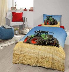 Good Morning 4208-P Tractor kinderdekbedovertrek - eenpersoons -140x200/220 cm 100% katoen - multi