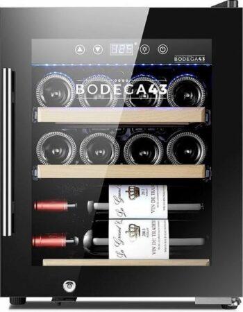Afbeelding van Zwarte BODEGA43-12C - Wijnkoelkast 12 flessen