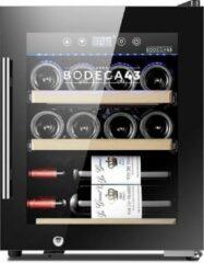 Zwarte BODEGA43-12C - Wijnkoelkast 12 flessen