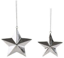 Dekohänger-Set, 2-tlg. Shiny Stars miaVILLA silberfarben