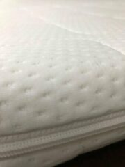 Witte **** Hotel matras Topper - 70x200 - 7 cm hoog - ****Hotel Topdekmatras Comfortfoam
