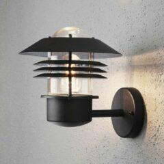 Konstsmide Buitenlamp 'Modena' Wandlamp, Triple lamel, E27 / 230V, kleur Zwart