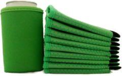 Koozie.eu 10 x bier - frisdrank blik koelhoud hoesje in groen |bierblik hoesjes | Festival | Vakantie | Strand | Carnaval