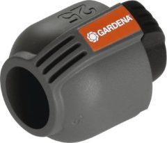 "Zwarte GARDENA Sprinklersysteem - L-stuk 25mm x 1/2"" buitendraad"
