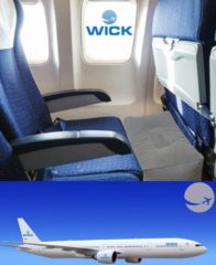 Wick Air Vliegtuigbedje - 3 hoogtestanden - OFFICIALLY APPROVED BY KLM - Reiskussen - Slapen in het vliegtuig - Kinderbedje - Voetensteun - Opblaasbaar - Grijs