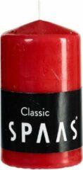 2x Rode Cilinderkaarsen/stompkaarsen 6 X 10 Cm 25 Branduren - Geurloze Kaarsen - Woondecoraties