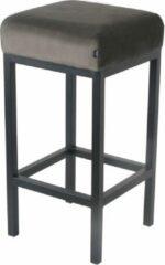 Damiware Barkruk velvet Bruce - Product Kleur: Velvet Grijs / Product Zithoogte: 65 CM