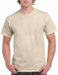 Beige Gildan Zandkleur katoenen shirt voor volwassenen M (38/50)