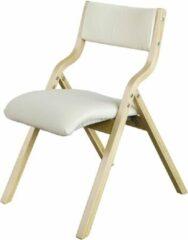 Bruine Simpletrade Klapstoel - Stoel - Inklapbaar - Afneembare hoes - Hout - 41x50x44 cm