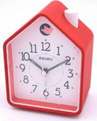 Seiko Wekker koekoek huis rood met witte wijzerplaat QHP002R