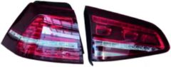 AutoStyle Set GTi-Look LED Achterlichten passend voor Volkswagen Golf VII 2012-2017 excl. Variant - Rood/Smoke - incl. Dynamic Running Light