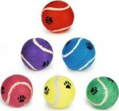 Paarse Beeztees Tennisbal - Hondenspeelgoed - Groen - 10 cm