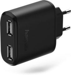USB-oplader Hama 2-fach 173608 (Thuislader) Uitgangsstroom (max.) 4800 mA 2 x USB