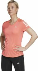 Roze Adidas Own the Run Aeroready trainings T-shirt met logoprint