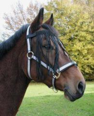 Zwarte Holland Animal Care Vliegenfrontriem Paard maat: Cob