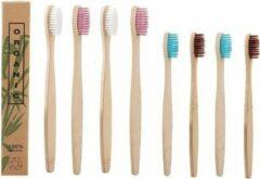 Bamboetandenborstels.nl Bamboe (houten) tandenborstels familieset (biologisch afbreekbaar): 4 tandenborstels volwassenen + 4 tandenborstels kinderen