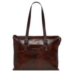 Castelijn & Beerens Castelijn en Beerens Laptop Shoulder Bag 15.4 Inch Crossbodytas Bruin