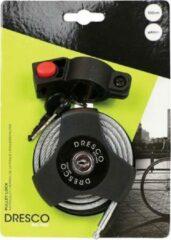 Zwarte Dresco Kabel/Spiraalslot Katrol Slot 100cm ø4mm