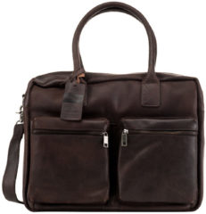 Donkerbruine Laptoptas Burkely Alex Businessbag Vintage Shoulderbag Dark Brown 15 inch