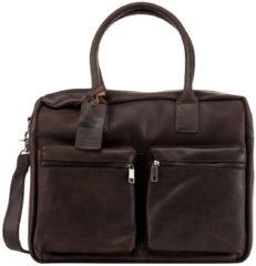 Donkerbruine Laptoptas Burkely Alex Businessbag Vintage Shoulderbag Dark Brown 15 inch