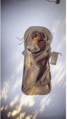Cocoon - KidSack Cotton - Reisslaapzak maat 180 x 76 cm, beige/grijs