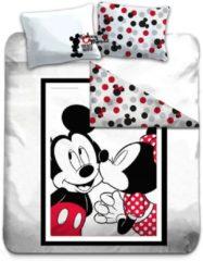 Rode Disney Mickey Mouse Kiss - Dekbedovertrek - Tweepersoons - 200 x 200 cm - Multi